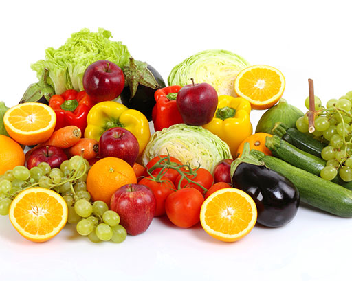 Fruit, vegetables, legumes & nuts